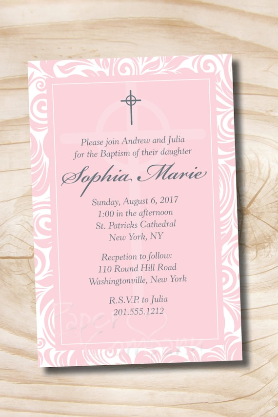 cheap baptism invitation