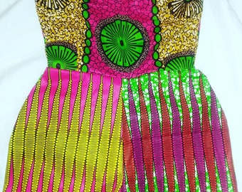 Playsuit Strapless Romper African Prints