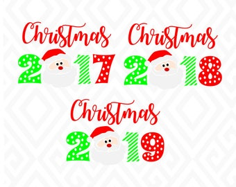 Santa Year: SVG, DXF, EPS, Ai, Png, Jpeg and PdfCutting Files for Electronic Cutting Machines