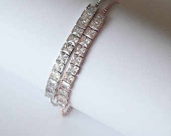 Diamante Tennis Wedding Bracelet Bridal Bracelet Bridal Jewelry Cocktail Jewelry