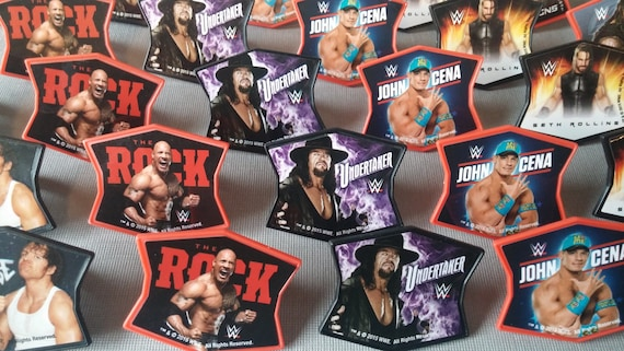 24 WWE cupcake rings toppers cake picks for your themed