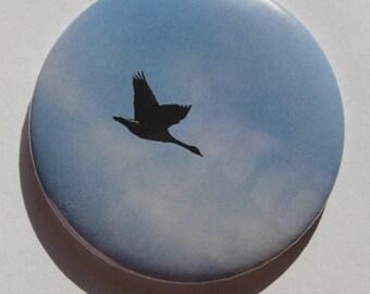 Geese in flight Pocket mirrors