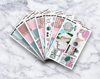 Erkunden Sie   Wöchentliche Kit   Sticker   Erin Condren   Glücklich Planner