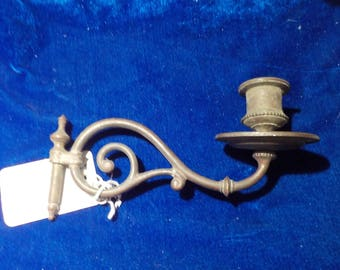 """Antique Candelabra Arm Bracket Part Brass With Patina 7"""" x 5"""" Part For Restoration Lighting Up Cycle DIY Gothic Victorian"""