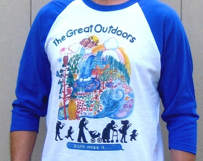 Great Outdoors, no Cell Phones Unisex Baseball T Shirt