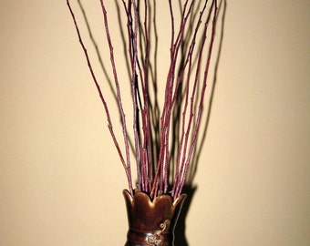 Decorative branches florist supplies vase fillers Apricot tree twigs and twine rustic arrangement decor primitive country _ Set of 10
