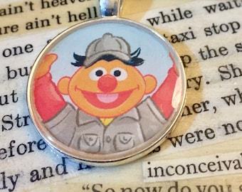 Bert and Ernie Book Pendant