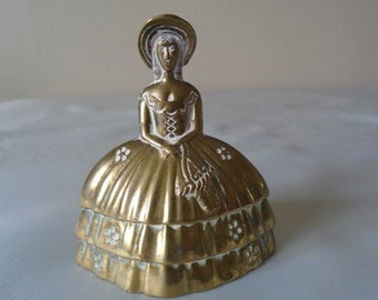 brass bell crinoline lady