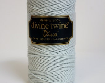 SALE 20% OFF - Solid Mint DIVA Collection Devine Twine 240 Yards Spool of Bakers Twine by Whisker Graphics