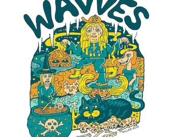 Wavves Tour Tshirt, 2017
