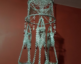 chain mail candle holder
