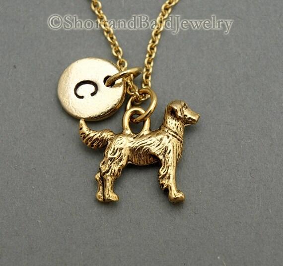 Golden Retriever charm necklace Golden Retriever Dog charm