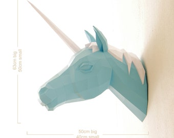 The Original Papercraft Unicorn Paper Trophy