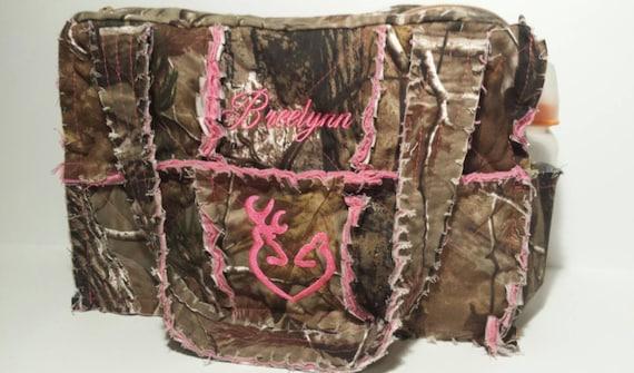 RealTree Pink Camo Diaper Bag 15 Wide X 10 Tall X 5 Deep