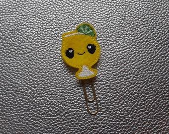 Cool Lemonade Drink Kawaii Planner Bookmark. Planner Feltie Clip.  Paperclip.  Felt Clip. Planner Gifts.  Stationery.  UK SELLER!