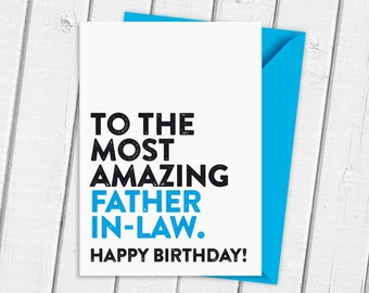 Father in law card etsy happy birthday to the most amazing father in law card bookmarktalkfo Choice Image