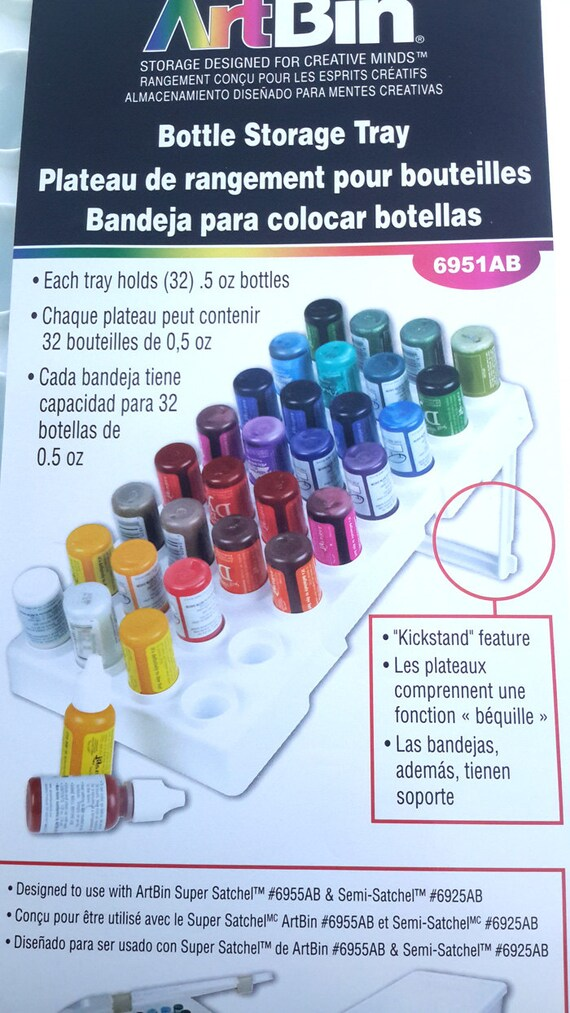 Organize your .5 bottles with this awesome ArtBin® Storage Tray For 0.5oz Bottles