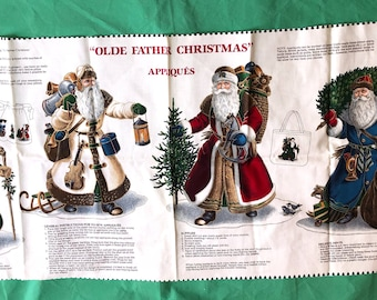 Cranston Print Works Olde Father Christmas Appliqués By Joan Messmore