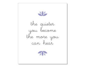 Yoga Printable | Yoga Print | Yoga Poster | Instant Download | Home Decor | 8x10 | Meditation | Wall Art