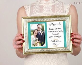 Parents Wedding Gift, Parents Of The Groom, Father Of The Groom Gift, Mother Of The Groom, Thank You Gift, Personalized Picture Frame