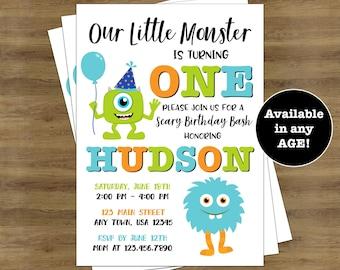 Monster Invitations Little Monster 1st Birthday Invitation