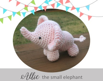 Crochet Elephant Pattern - ALLIE the small elephant