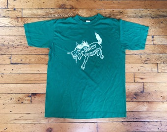 1980's Donkey Basketball t shirt velvasheen USA xl