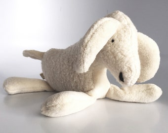Eco Organic Stuffed Animal Goat Farm Doll Plush Natural Ram Toy