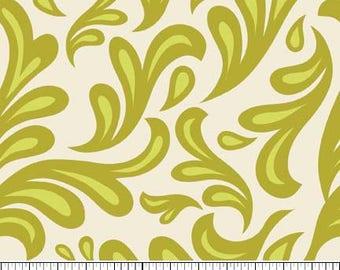 Sweet Nothings Fabric by Zoe Pearn for Riley Blake Designs, C5002 Green Swirls