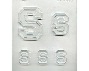 "Collegiate Letter ""S"" Chocolate Candy Mold"
