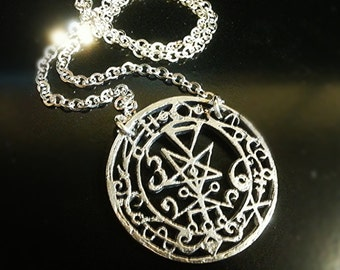 Seal Of Lilith Sterling Silver Pendant with Chain