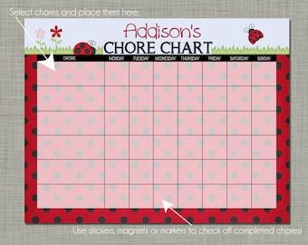 Girl Superhero Chore chart Printable Instant download