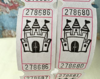 Castle On a Cloud Vintage Style Hand Stamped Carnival Tickets