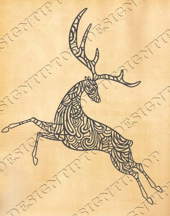 Deer svg, deer cut file, Silhouette Studio, Cricut, svg, dxf ...