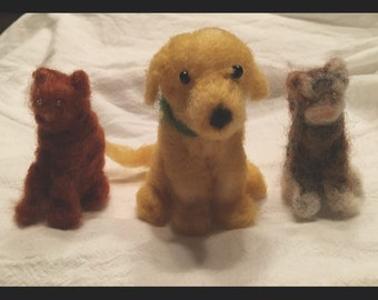 Needle Felted Custom Made to Order Dogs