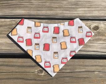 It's Peanut Butter Jelly Time pet bandana
