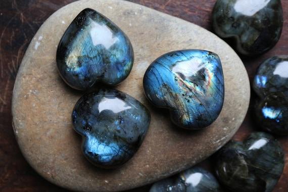 Large Labradorite Heart, Heart Shaped Labradorite, Heart Shaped Crystal, Polished Labradorite, Feldspar Heart, Unisex Gift, Stocking Stuffer