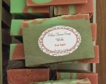 Bad Apple - Apple Cider Soap - 4 ounce Bar - Handmade - Real Lye Soap