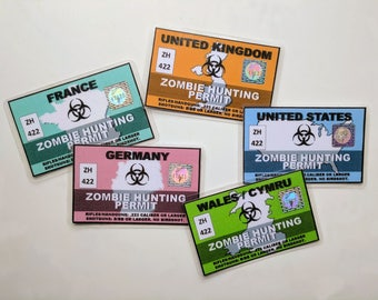 Zombie hunting permit (Customisable)