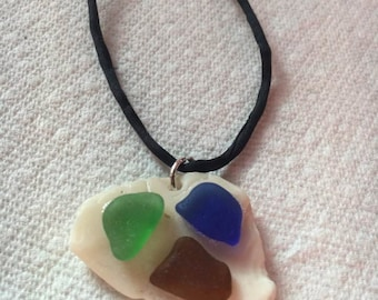 Sea Glass / Shell Necklace