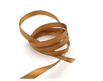 22 m 6mm camel colored satin ribbon