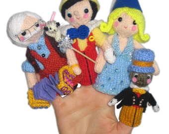PINOCCHIO Finger Puppets Pdf Email Knit PATTERN