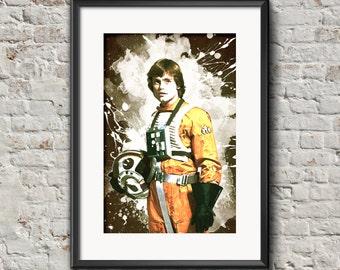 Luke Skywalker, Star Wars, Vintage, Home Decor, Hanging Art, Wall Art Decoration, Print Poster, Multiple Sizes