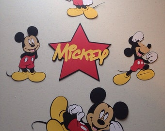 Set of 5 Mickey Mouse die cuts
