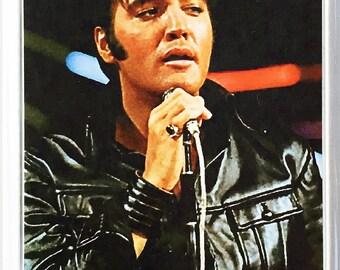 Elvis Presley 68 Comeback Special poster Fridge Magnet & Jumbo Keyring #5 New