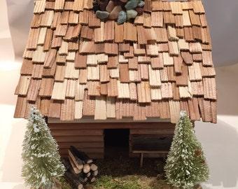 midwest log cabin incense holder