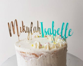 Personalised  cake topper // name cake topper