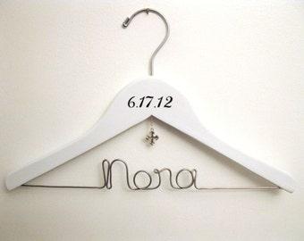Baptism / Christening Cross Hanger Gift  -Personalized & Custom for Child, Baby, or Toddler - Small Hanger for Flower Girl