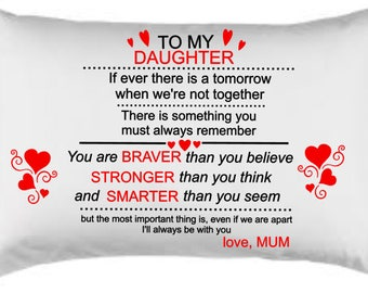 To my daughter love mum pillow case