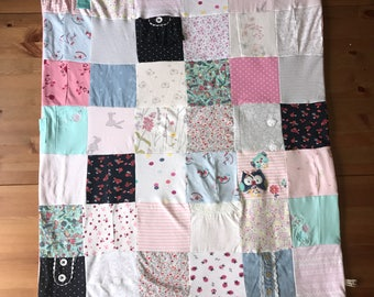 Keepsake Memory blanket from your Baby Clothes